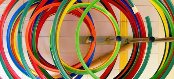 Aros de colores para la realización de actividades